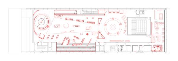 german soccer museum – floor plan, third floor – start exhibition
