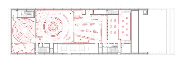 german soccer museum – floor plan, first floor – exhibition