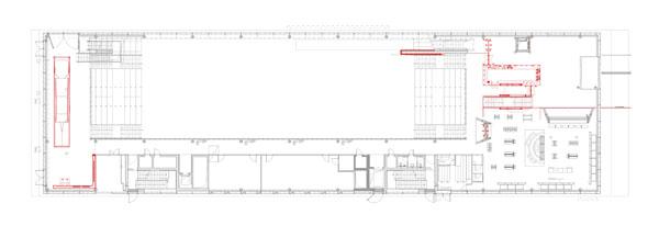 german soccer museum – floor plan, first floor – foyer