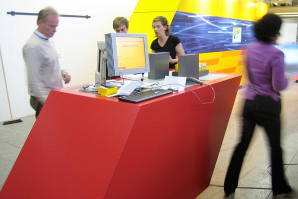 dhl innovation center, modulares messesystem – probeaufbau